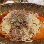 中華そば くにまつ - 汁無し坦々麺(混ぜる前)