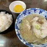 栄食堂 - ライスとたら汁