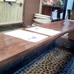 15817311 - 足湯のテーブル♪