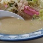 井手ちゃんぽん - スープもまろやかで、魚介の旨みもあってしっかりしてます