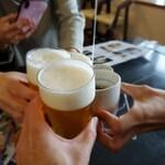 河太郎 - ビールとお茶でカンパーイ