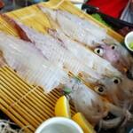 河太郎 - イカの活き造り