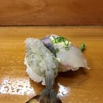 大和田鮨 - 地魚にぎり 関あじ、車海老
