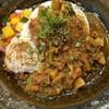 スパイスカレー旬香唐 - 料理写真:旬野菜と鶏つくねのキーマ・大盛。