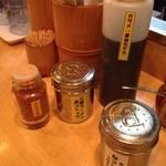 麺場 七人の侍 - カウンター上 201206