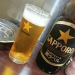 ぐっさん - サッポロ黒ラベル (大瓶)