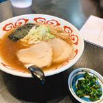 麺屋 黄昏 - 料理写真:黄昏ラーメン(チャーシュー1枚ニラ醤油トッピング)