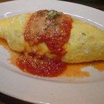 プラチナダイナー白金カフェ食堂 - 「オムライス」トマトソースで