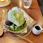日本茶専門店 茶倉 - 抹茶白玉あんみつ 抹茶蜜添え