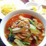 唐苑 - 「五目タン麺とチャーハンセット」980円