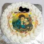 ラ・ブランシュ - メロンのショートケーキ7号サイズ(キャラクタープレート鬼滅の刃)
