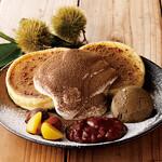 さかい珈琲 - 渋川栗とほうじ茶のパンケーキ