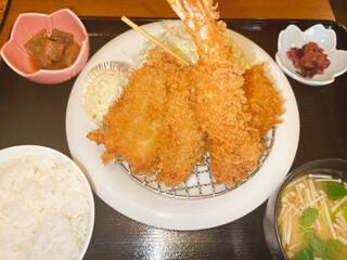 お食事処 大原 - ミックスフライ定食