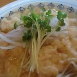 こきんや - 今治ラーメンに並天うどんの天ぷらを乗せたらめっちゃ美味しかったのでできたメニュー