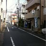 おかめ - 多摩幼稚園を曲がるとすぐあります。