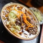 白須うどん - 料理写真:肉かけ・並(500円)2021年9月