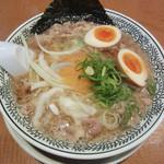 丸源ラーメン - 半熟煮玉子入り肉そば(787円)