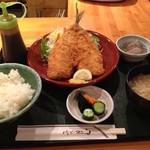 宮本 - アジフライ定食