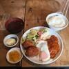 ひらき - 料理写真:ハンバーグとカニクリームコロッケ 1200円