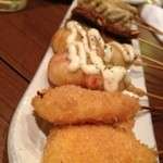 魚串さくらさく - ちくわチーズ、海老マヨ、ホタテフライ