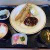 御料理 綾瀬 - 料理写真:ハンバーグと海老フライ定食、 ¥1375-