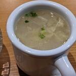 158282738 - 食前に提供されるスープ                       なんだか妙に美味い
