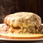 いずみバーグ - 料理写真:⑥メガバーグカリー_ダブルチーズトッピング