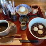 珈琲屋 松尾 - 料理写真:白玉あずきと珈琲