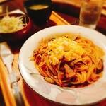 158302705 - キムチスパゲッティを別角度で。
