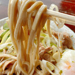 南天 - 麺は太めの茹で麺