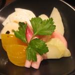 タイーム - 2012・11月 レア野菜・隼人瓜や柿などのピクルス