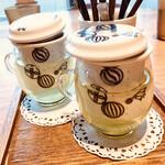 築地本願寺カフェ Tsumugi - 三重県産・福岡八女産かぶせ茶(温茶)