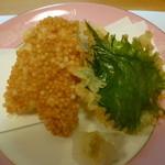 料理工房 たなか - 揚げ物 キス ゴマ豆腐 紫蘇