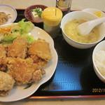 姫燕 - バクダン唐揚げ定食