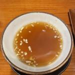 熊猫飯店 - えび炒飯のスープ