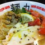 麺丸 - 2012年夏限定、濃厚あさり冷やしそば
