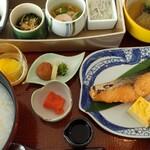 日本料理 芝桜 - 朝食 お粥を選択