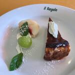 イル レガーロ - ドルチェセット(焼きチーズケーキ?) ランチにプラス¥580