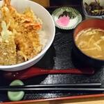 天ぷら処 こさか - 海老天丼(並盛)