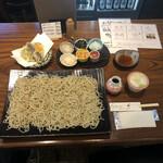 ほりのうち - 料理写真:みたて蕎麦1680円 やさい盛り合わせ天ぷら890円