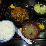 とんかつ鉄平 - 豚肉生姜焼き