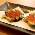 天ぷらとワイン 小島 - 海苔いくらカナッペ