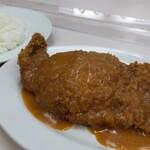 肉のますゐ - サービスとんかつ(380円)