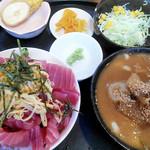 全国珍味・名物 難波酒場 - ランチ まぐろ丼定食