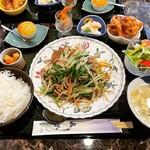 那珂櫻料理 - 料理写真:ニラレバー定食 ¥750-