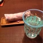 さくら日和 - 料理写真:お水とおしぼり