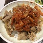 すき家 - キムチ豚丼