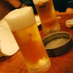 今も昔や - ビールで乾杯