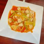 上海料理 寒舎 - 甘辛ヤリイカ炒め