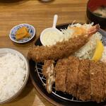 三九三 - 料理写真:チキンカツ定食